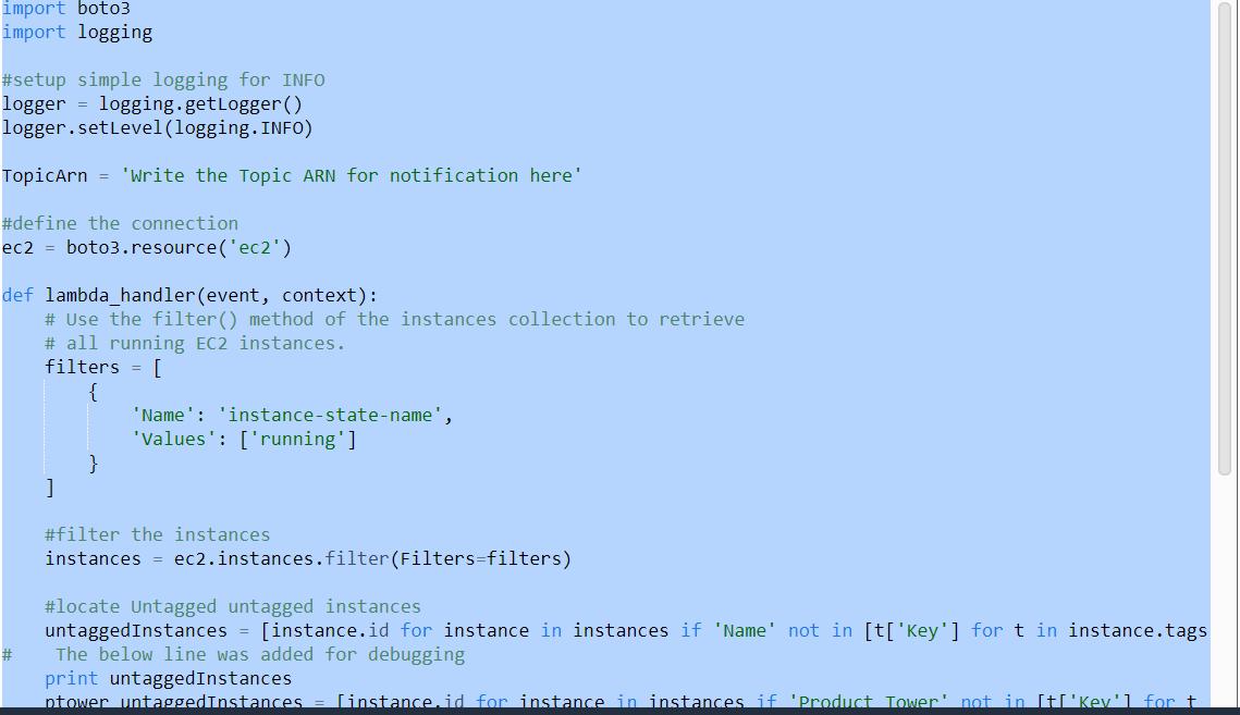 Navneet Rathi's Tech Blog: Enforce Tagging  Using AWS Lambda