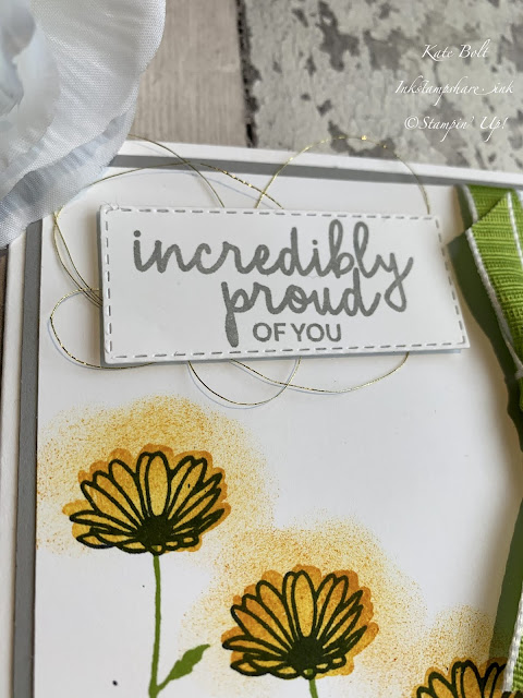 Daisy Delight, Daisy card.Incredibly Proud Of You. Kylie Bertucci's International Blog Highlights