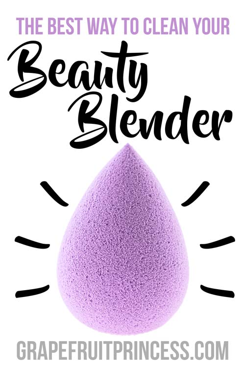 How to clean your makeup sponge