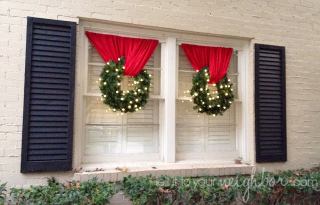 10 brilliant ways to use tension rods - easily hang a wreath in a window