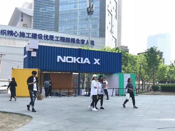 Nokia X Launch preparations in Sanlitun China