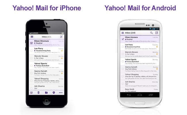 Tampilan New Yahoo! Mail di iPhone dan Android