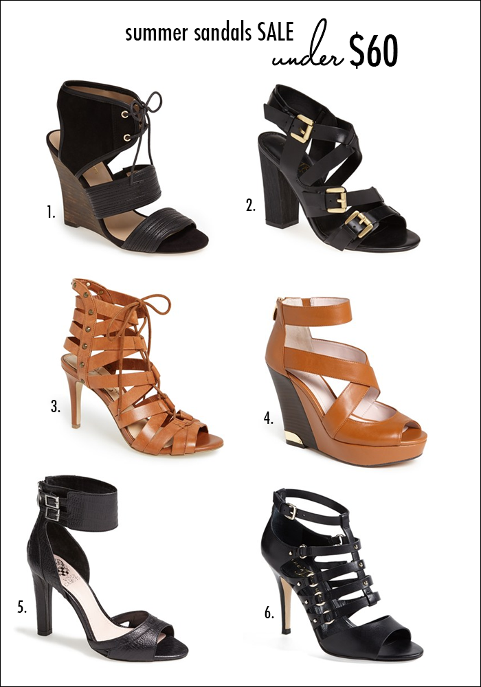 sandals under $60, sandals under $30, gladiator sandals, lace up sandals, wedge sandals, leathe sandals, nordstrom