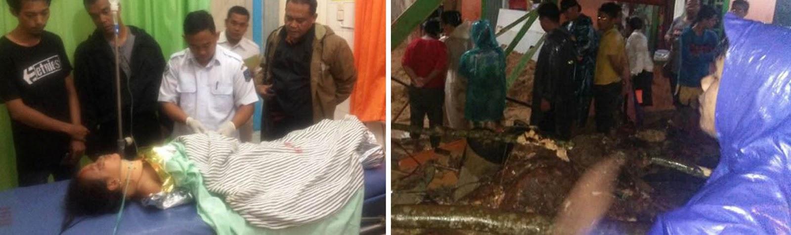 Jenazah ibu hamil yang tewas tertimpa longsor di Sibolga,