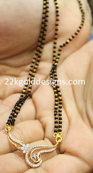 Diamond Black Beads Necklace