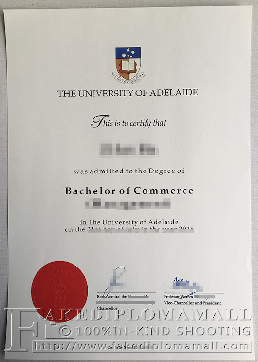 University of Adelaide degree new version and new Chancellor's signature