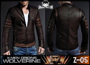 jas exclusive jaket kulit x men origins  wolverine (z 05)