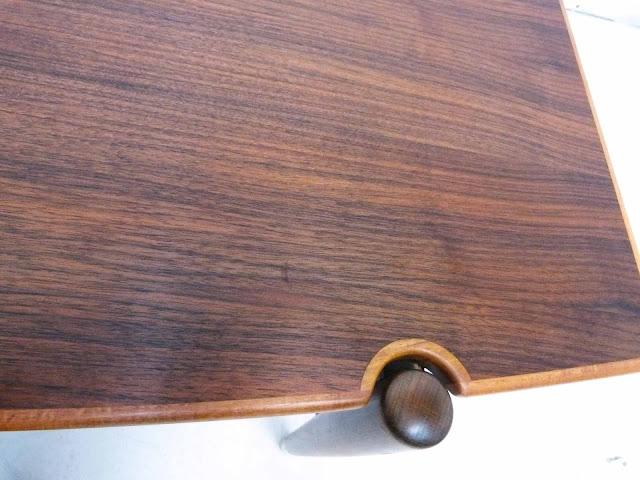 Dux Teak Walnut Cane Shelf Surfboard Coffee Table Edge Band