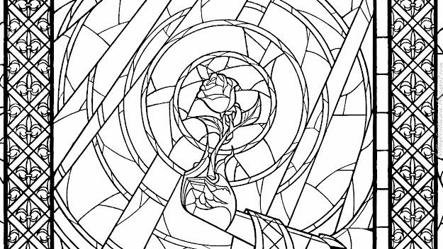 Kingdom Hearts Coloring Sheet   Dibujos Para Colorear De Las  Vidrieras