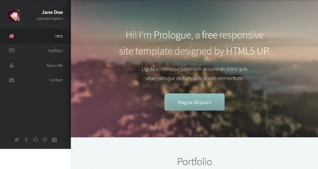 Prologue - Free Html5 Template