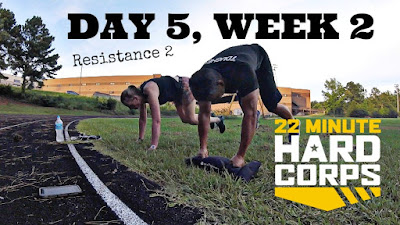 Day 5 Week Two 22 Minute Hard Corps Challenge, Outdoor Beachbody Workout, Beachbody on Demand, 22 Minute Hard Corps Resistance 2 Workout, BoneFrog Challenge South Carolina 2016