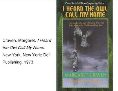 by margaret craven essay In the book i heard the owl call my name by margaret craven, it talks about how a young man, named mark, goes to a native american village, called quee, and their he learns about the native american life it is a great story because it teaches you about other cultures and that life isn't always.