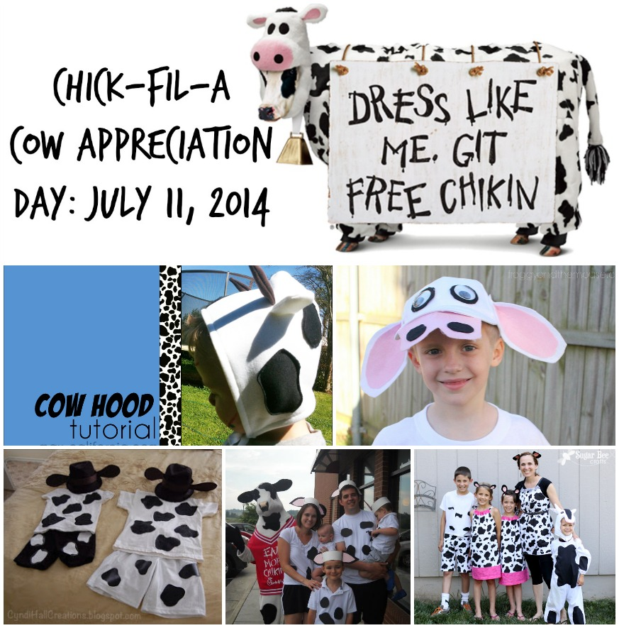 Cow Appreciation Day Costume Ideas via @redheadbabymama