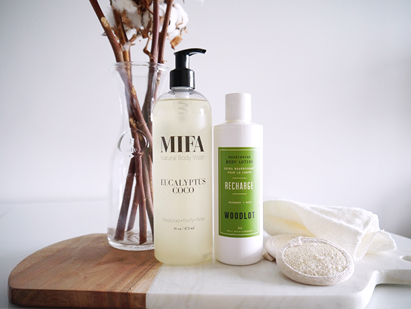 MIFA & Co Eucalyptus Coco Body Wash and Woodlot Recharge Body Lotion