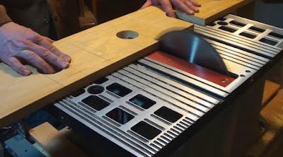 Custom cutting on a bench saw
