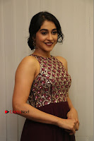 Actress Regina Candra Latest Stills in Maroon Long Dress at Saravanan Irukka Bayamaen Movie Success Meet .COM 0018.jpg