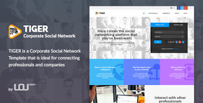 Download Tiger - Responsive Social Networking HTML Website Template For Corporate