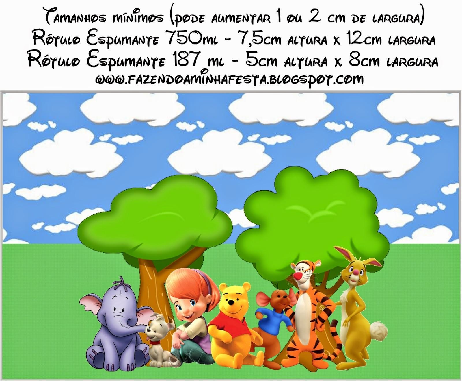 Winnie the Pooh: Etiquetas Candy Bar para Imprimir Gratis. | Oh My Bebé!