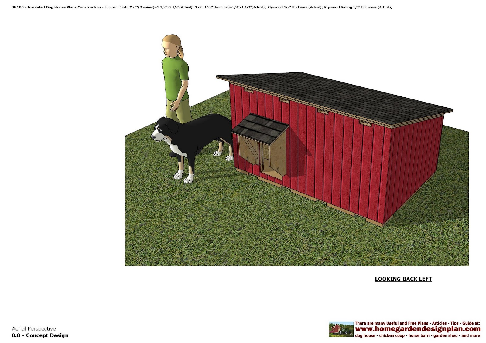 Home garden plans dog houses for Dog kennel floor plans