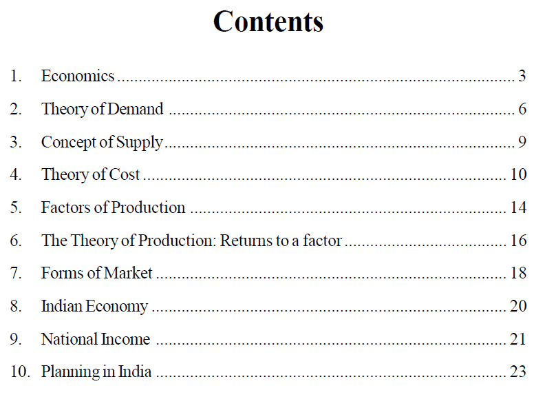 Economics notes for UPSC pdf free download