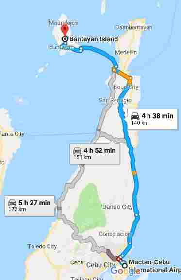 Bantayan Island white beach cebu philippines 2018 map mactan cebu international airport map