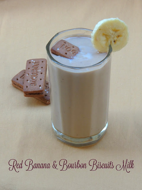 Bourbon Biscuits & Red Banana Milk, Red Banana Bourbon Milk