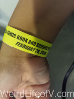 My wristband for the convention
