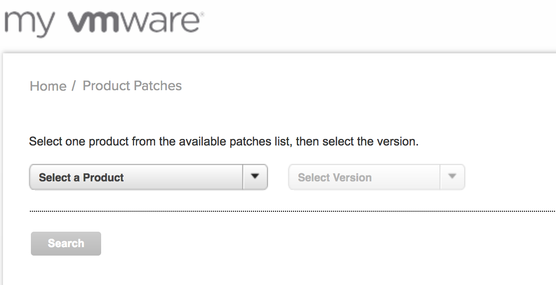 Just Another IT blog: VMware Patch Download Center