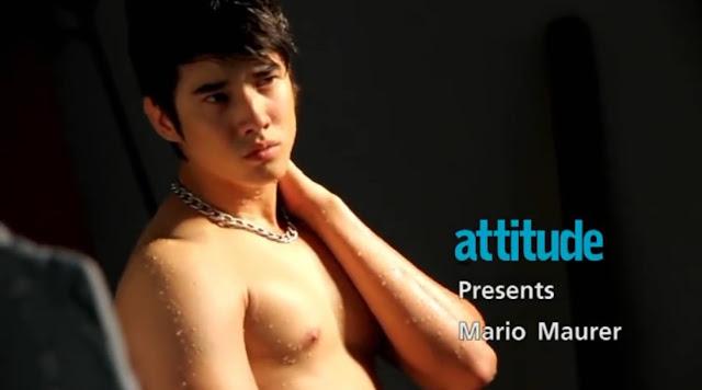 [Attitude Thailand] - behind the scene - cover Mario Maurer