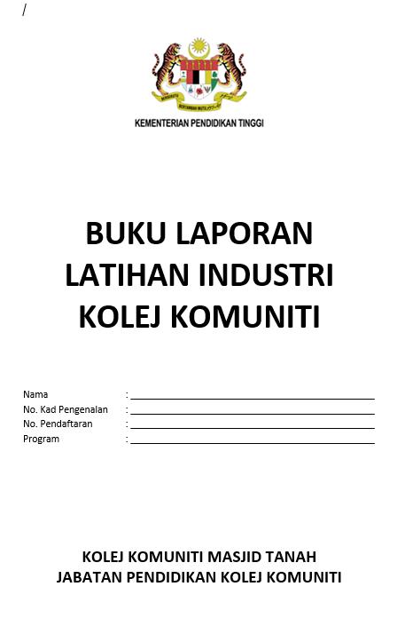 Format Buku Laporan Latihan Industri