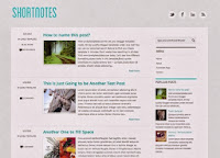 Shortnotes Blog template, Usages Blogging, Layout 2 Column with Right Sidebar,