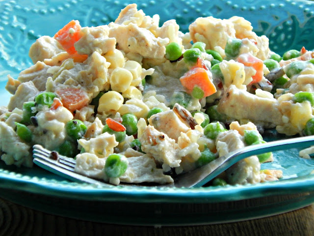 Extra Creamy Vegetable Chicken and Rice Recipe #PremiumVeggies #ad #pmedia