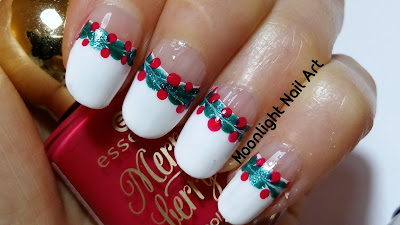 Christmas Drag Dry Marble Nail Art - Needle Nail Art