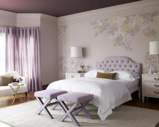 warna cat kamar tidur anak perempuan The Misty Rose