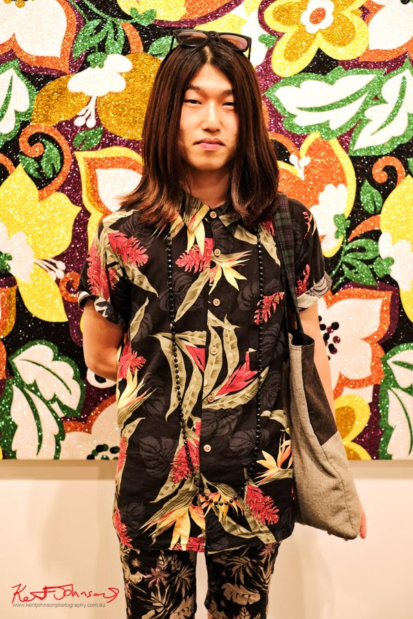 Florals on Black - Spring Summer Shirts and Shorts - Art by Reuben Paterson - Photography by Kent Johnson.