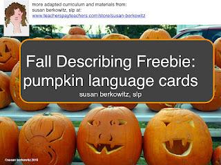 describing pumpkins free card game