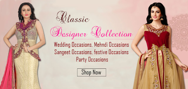 Latest Fashion Wedding and Party Occasion Special Semi Stitched Dresses Online Shopping with Best Price at pavitraa