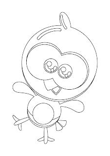 Desenho Pintinho Amarelinho Mini para colorir e imprimir
