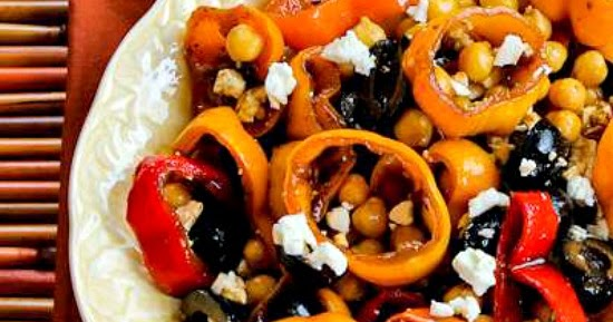 ... Kitchen®: Marinated Pepper Salad with Garbanzos, Olives, and Feta