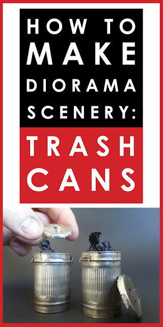 Video tutorial: how to make scale model metal trash can diorama scenery