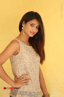 Tollywood Upcoming Actress Arthi Stills in Black Skirt at Plus 1 Movie Trailer Launch  0027.JPG