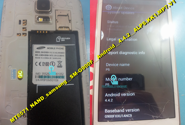 How To Flash Samsung Galaxy S5 Clone MT6571_NAND_samsung__SM-G900F__Android__4.4.2__ALPS.KK1.MP7.V1