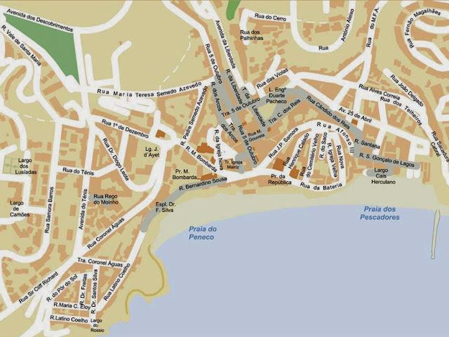 Albufeira center map