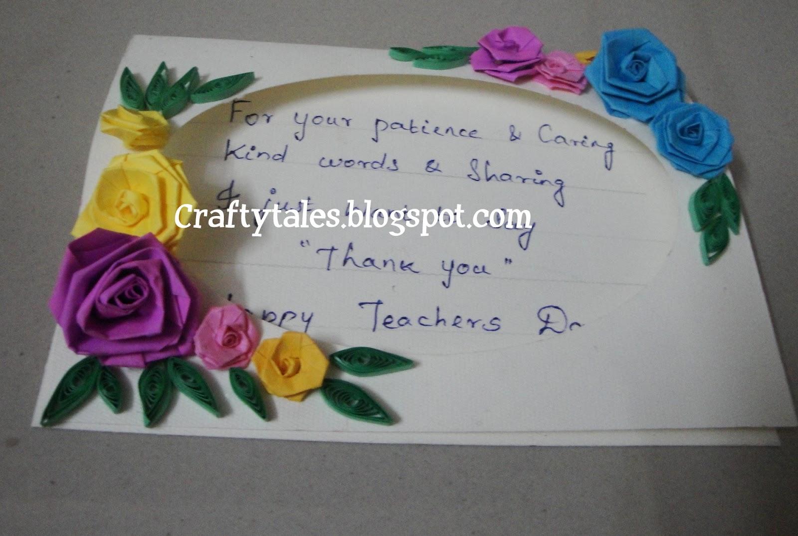 crafty tales teachers day special cardsme n pranav