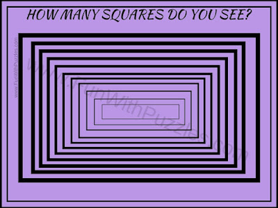 Tricky Picture Puzzle to count number of Squares