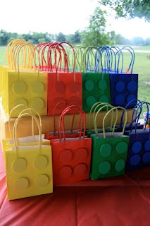 LEGO-themed party favors