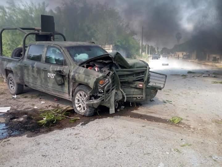 Fotos así fue el enfrentamiento entre Soldados y Sicarios en Díaz Ordaz