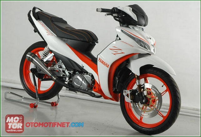Modifikasi Jok 3D Finishing Carbon All New Jupiter Z1 - Panduan Cara Modifikasi Yamaha All New Jupiter z1 Injeksi Racing Sporty Ala Balapan