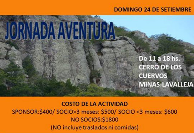 Jornada de escalada deportiva en Cerro de los cuervos (Lavalleja, 24/sep/2017)
