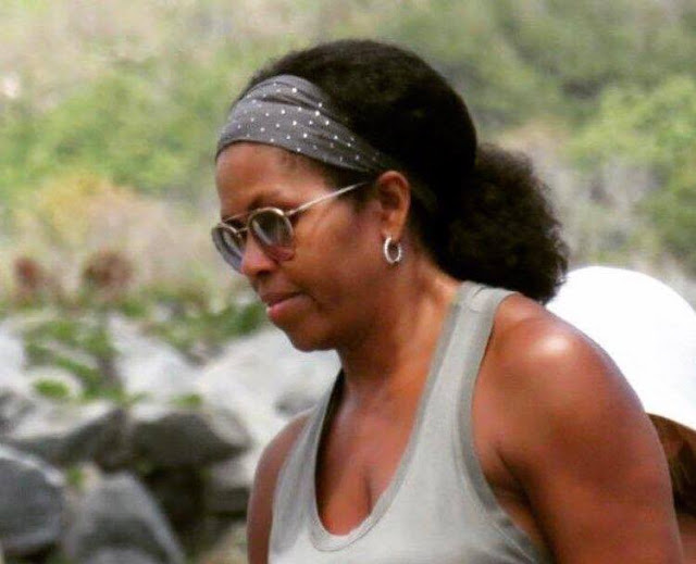 Michelle Obama Is Rocking Her Natural Hair And Black